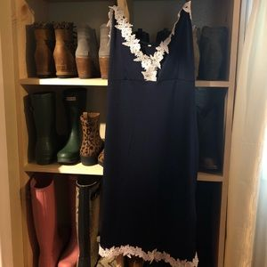 Dresses & Skirts - Navy and white lace summer dress